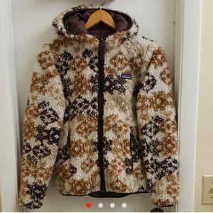😍 Patagonia deep pile sherpa zip up hoodie sz xs